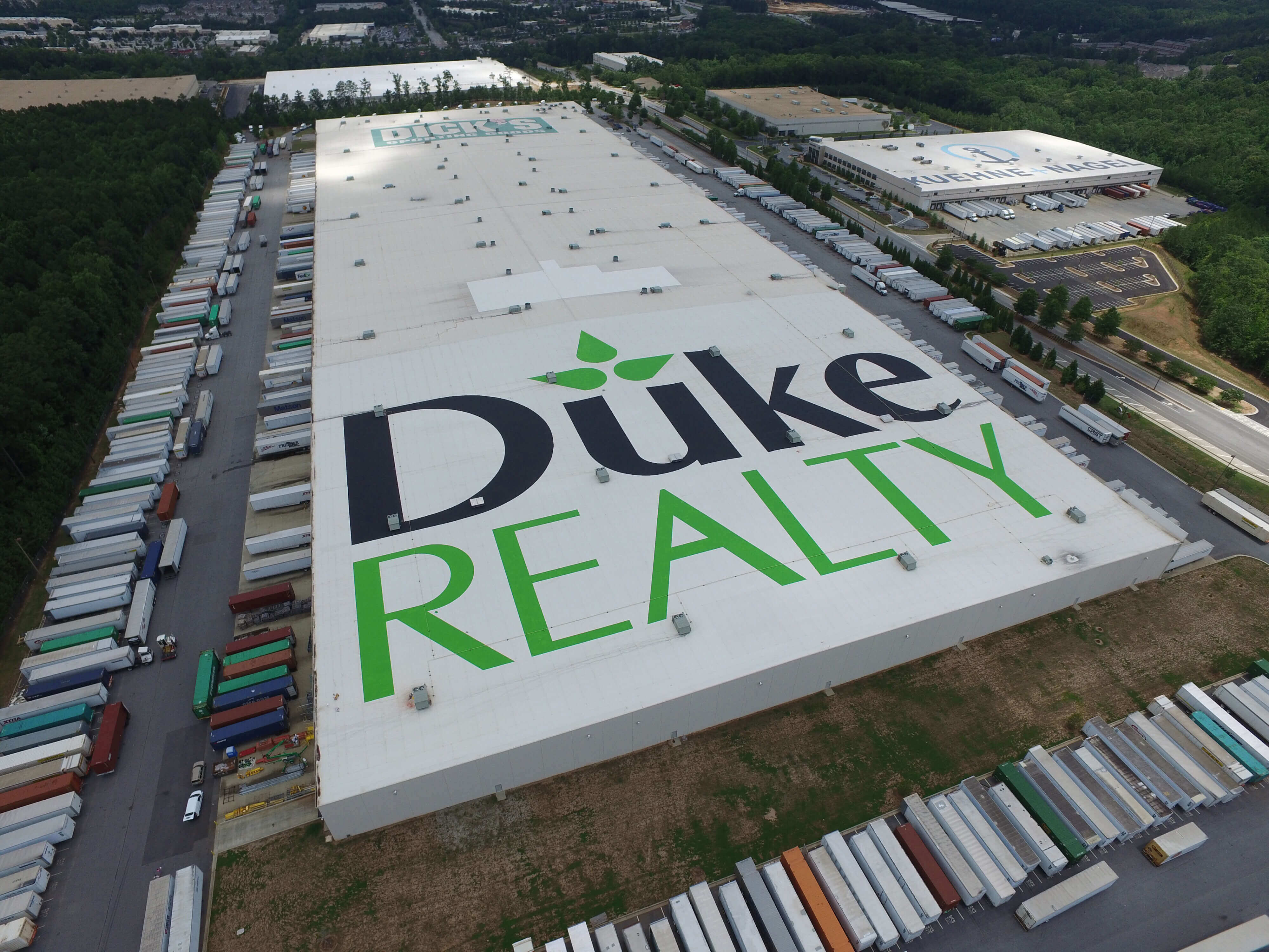 Hand Painted Logo Roof Project In Atlanta Georgia Right