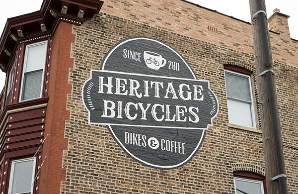 Right Way Signs Of Chicago Brick Wall Logo Sign Painting